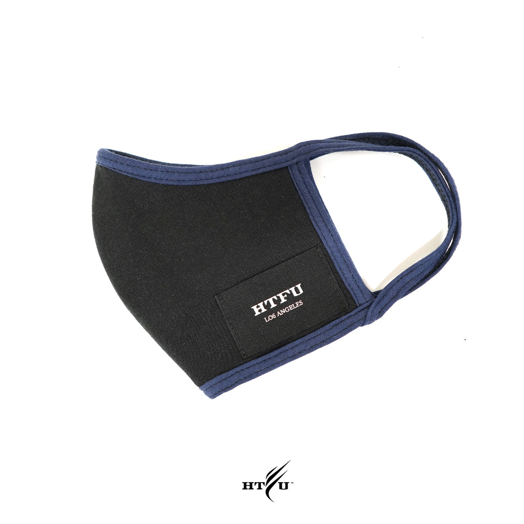 HTFU Mask - Black / Blue Trim