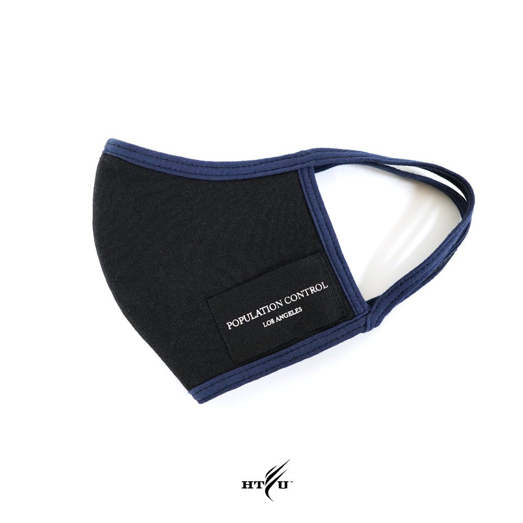 Population Control Mask - Black / Blue Trim