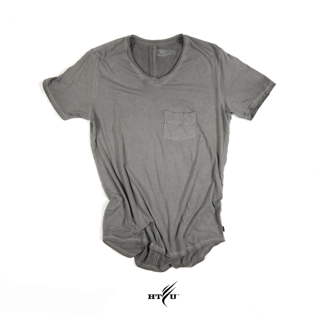Boss V Neck Grey