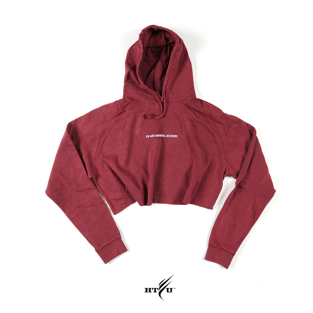 Cropped Die With Memories Hoodie - Dusty Rose - Ships 12/15