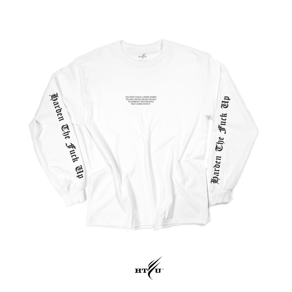 Embrace It LS Tee - White