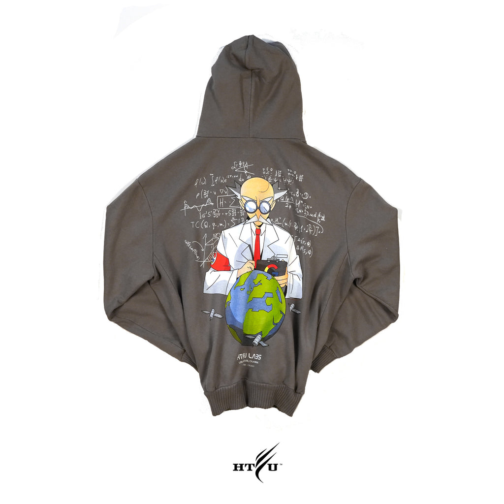 Mad Scientist Hoodie - Gun Metal Green