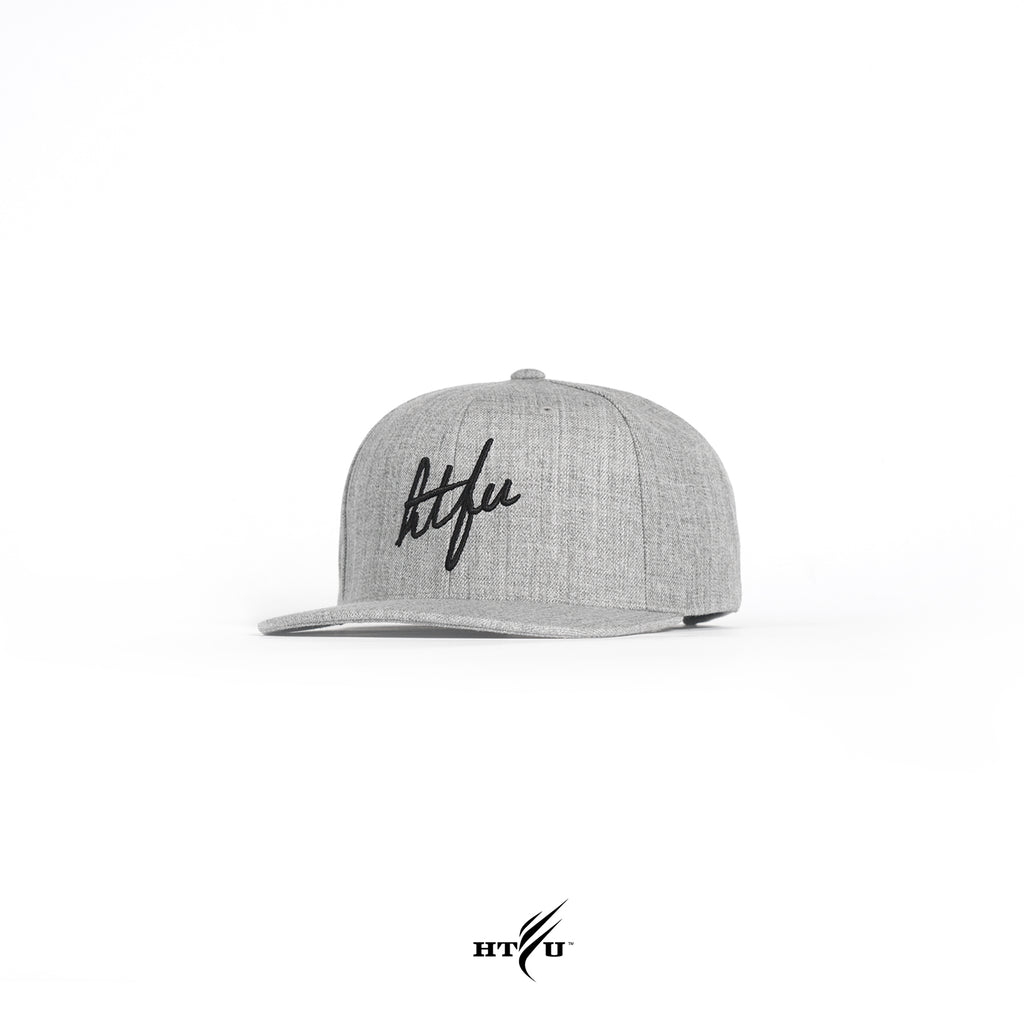 Script Snapback - Heather Grey