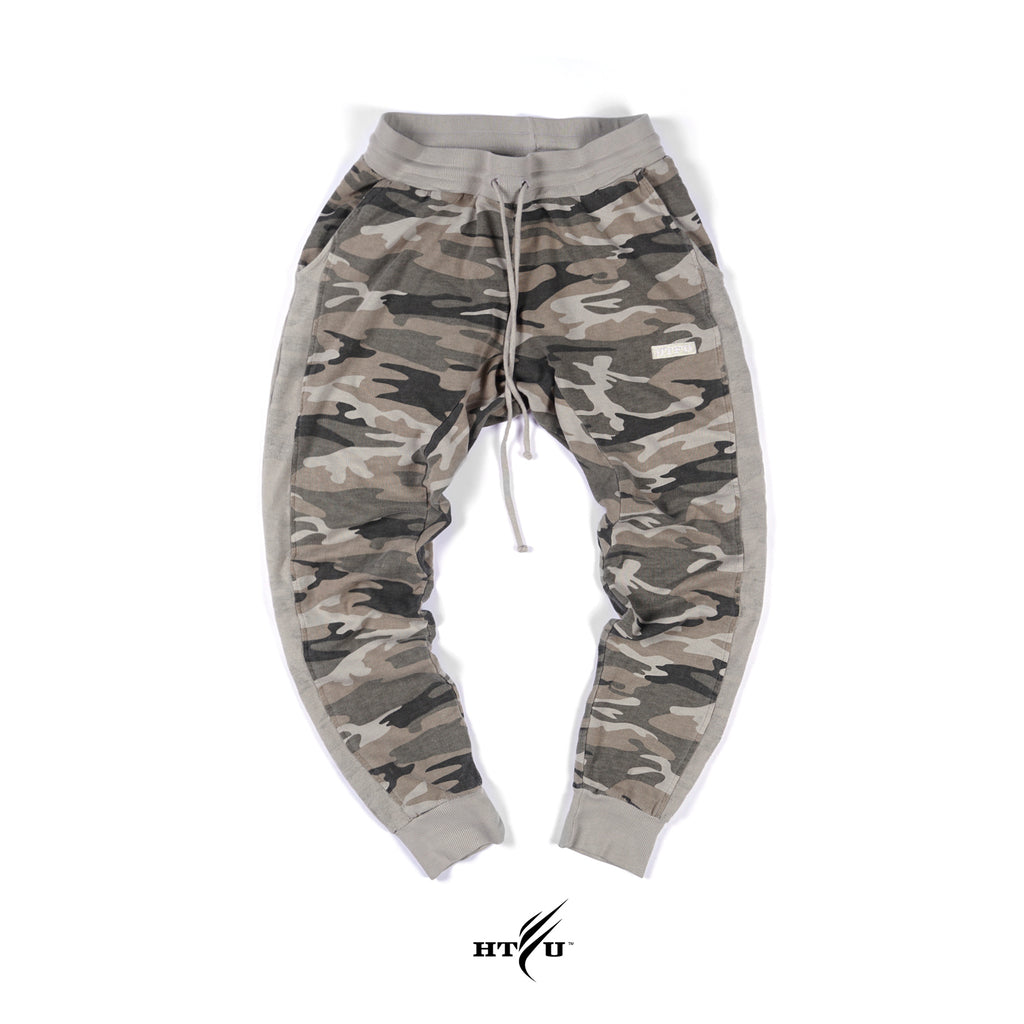 Box Logo Joggers - Tan Camo