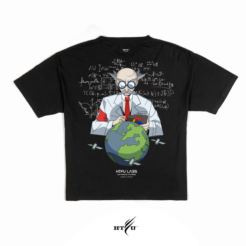 Mad Scientist - Black Oversized Tee