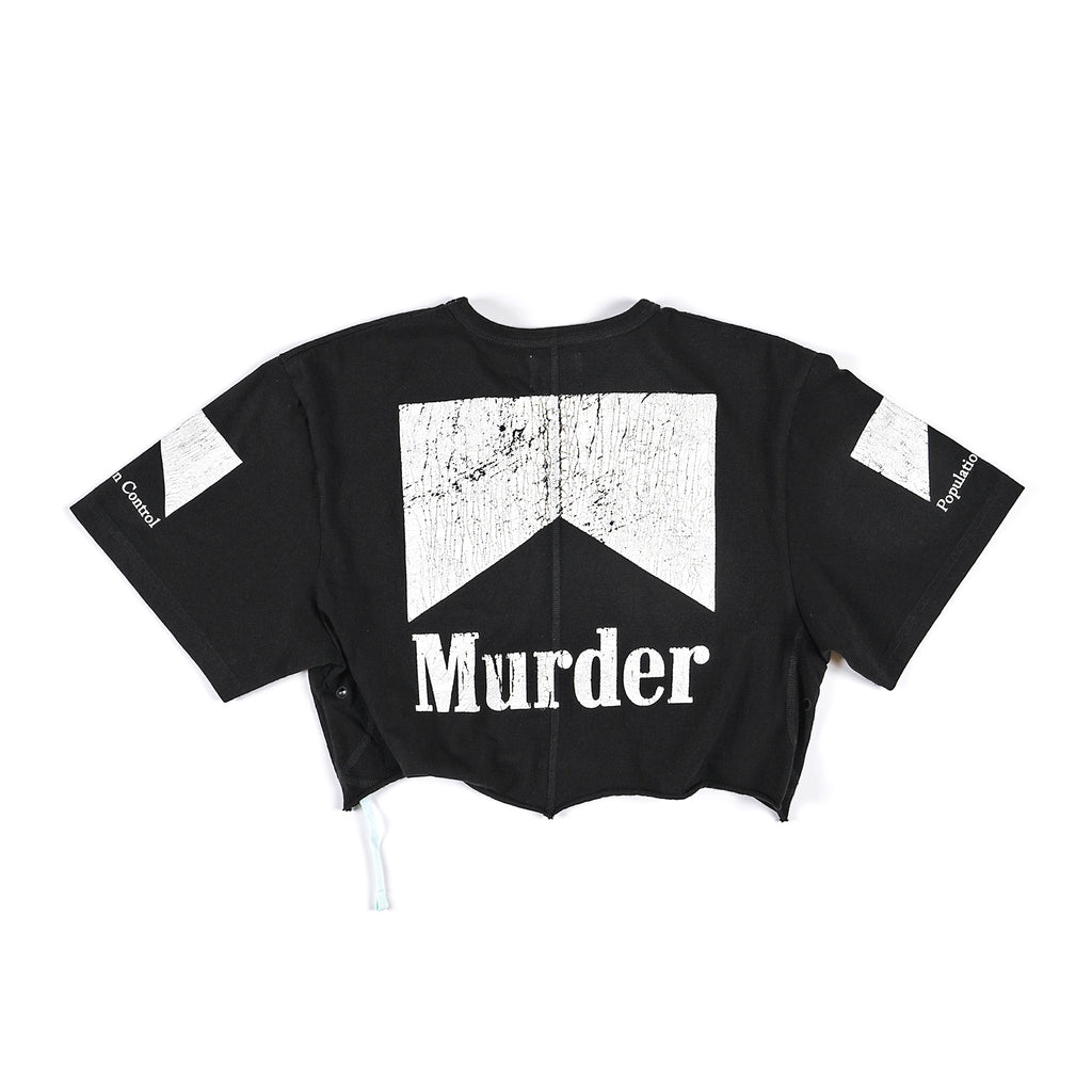 Ladies Cropped Murder Tee - Black