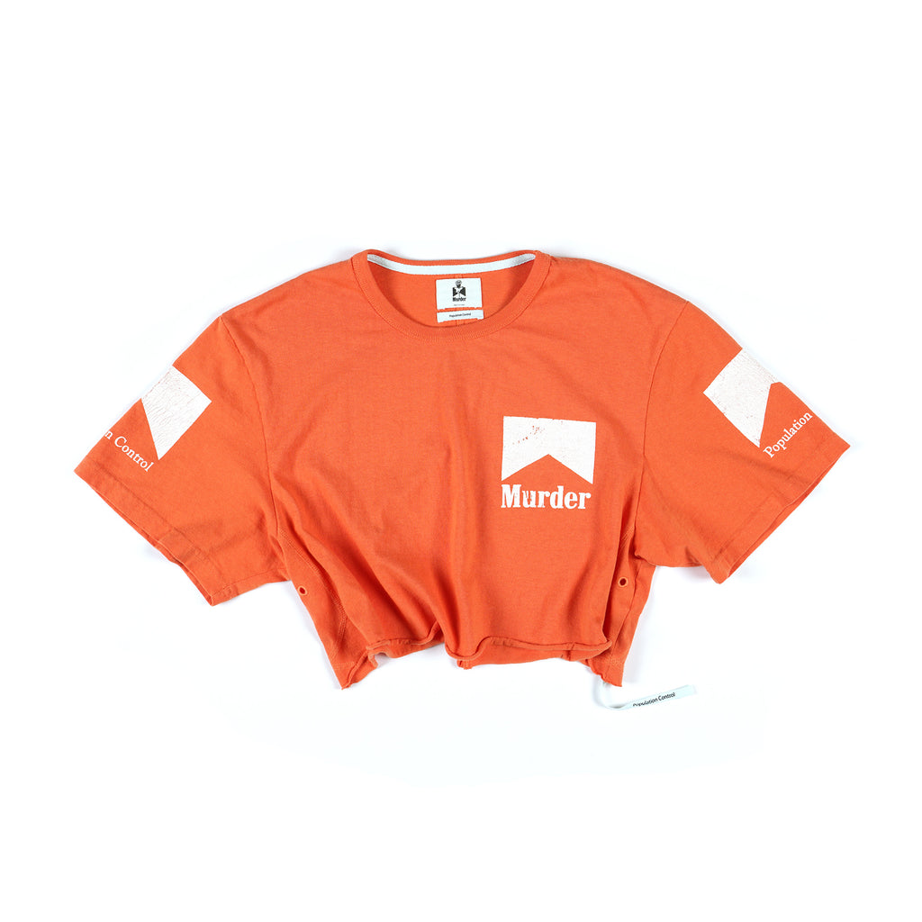 Ladies Cropped Murder Tee - Orange