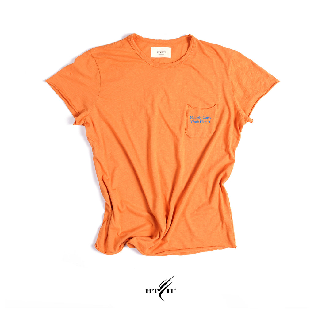 Nobody Cares Cap Sleeve Slub - Gibson Orange
