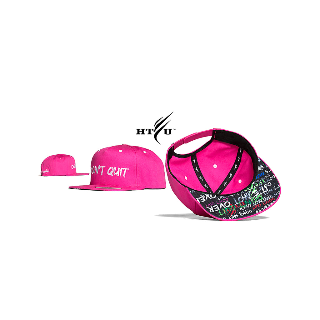 Don't Quit Snapback - Pink