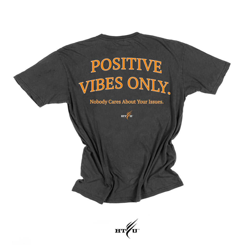Positive Vibes - Orange on Charcoal