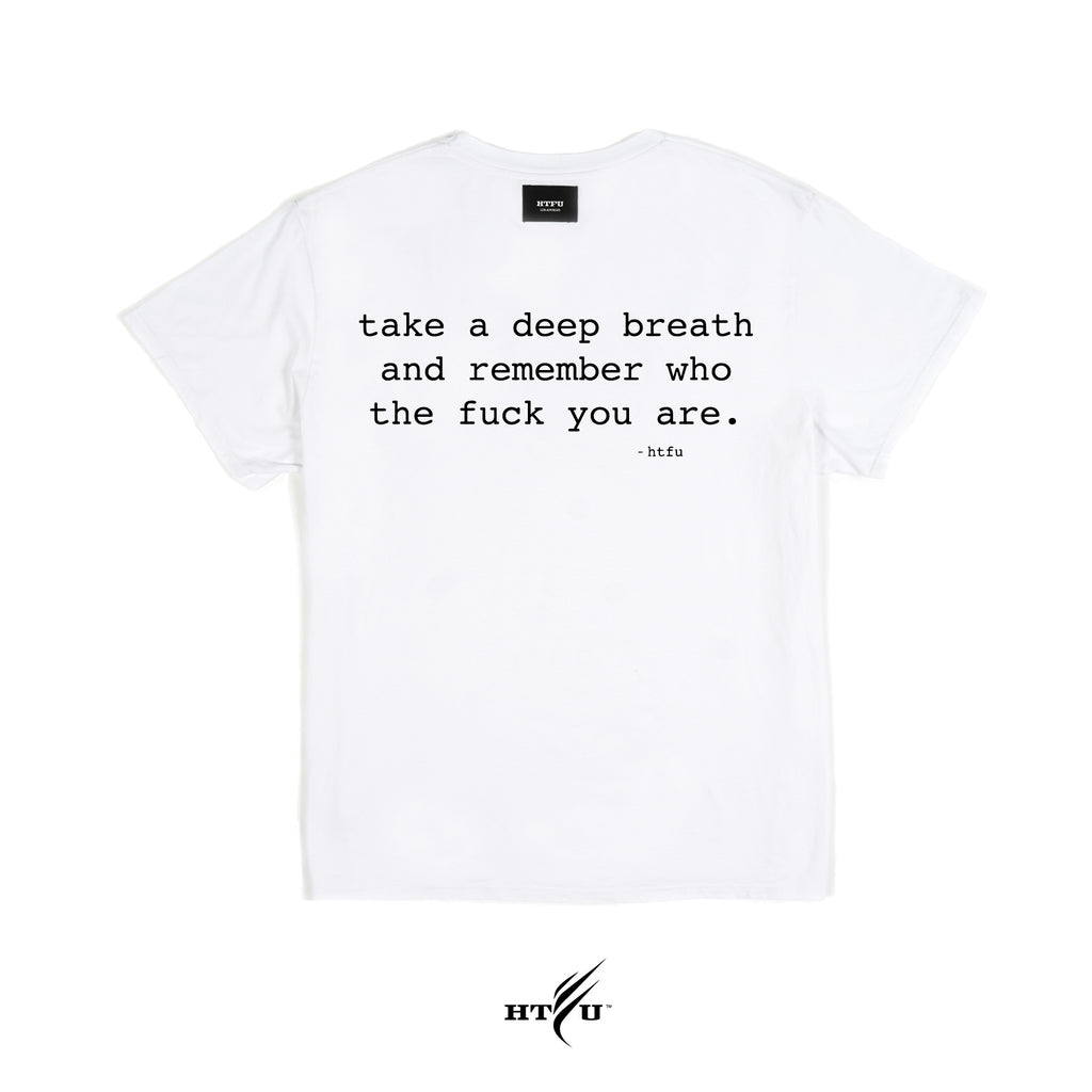 Deep Breath - Essentials Tee -  White