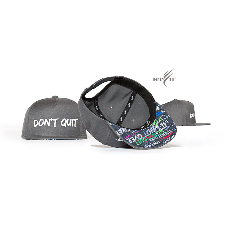 Don't Quit Snapback - Charcoal Grey