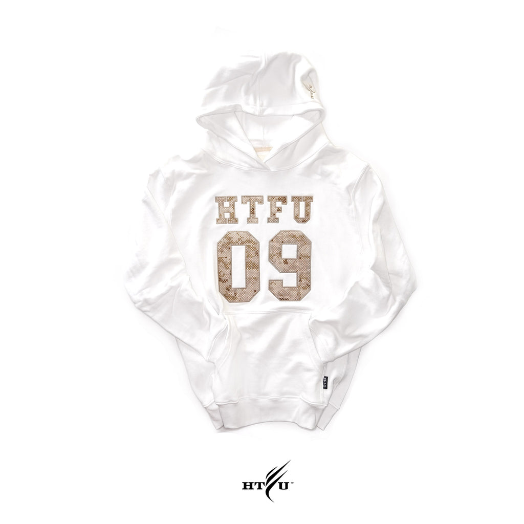 Game Day Pullover Hoodie - Digital Camo on White