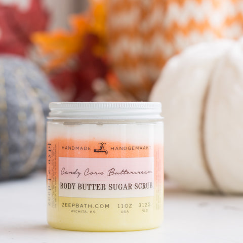 Candy Corn Buttercream Body Butter Sugar Scrub - Zeep Bath
