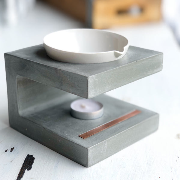 Wax Melter | Beton Collection | Gris
