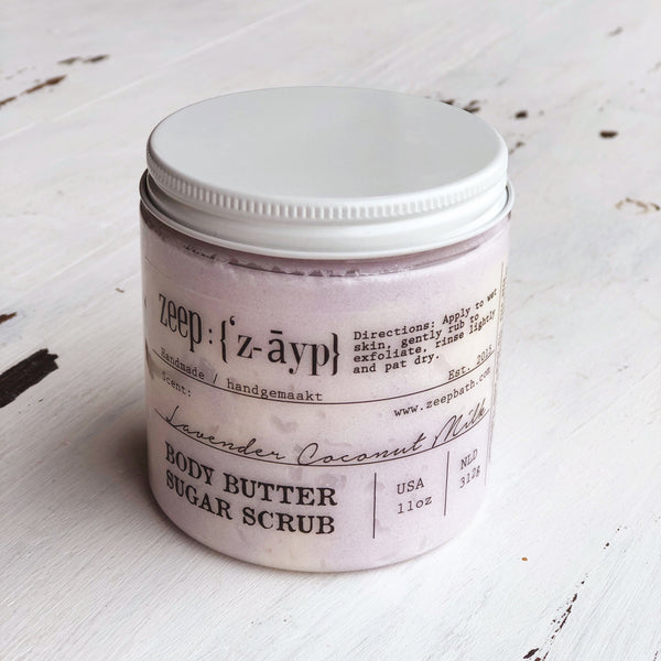 Lavender Coconut Milk Body Butter Sugar Scrub | Limited