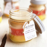 Candy Corn Buttercream Mason Jar Candle
