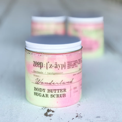 LIMITED | Wonderland Body Butter Sugar Scrub - Zeep Bath