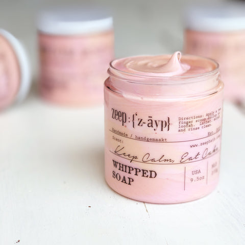 Keep Calm Eat Cake Whipped Soap | LIMITED