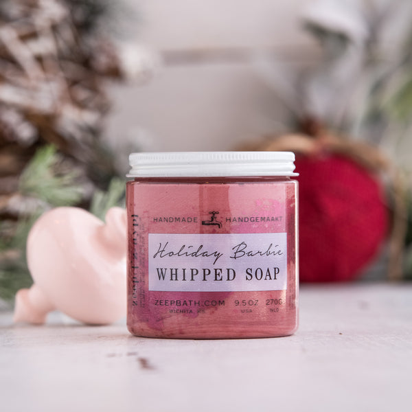 Holiday Barbie Whipped Soap