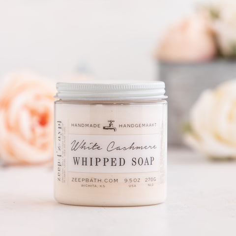 White Cashmere Whipped Soap