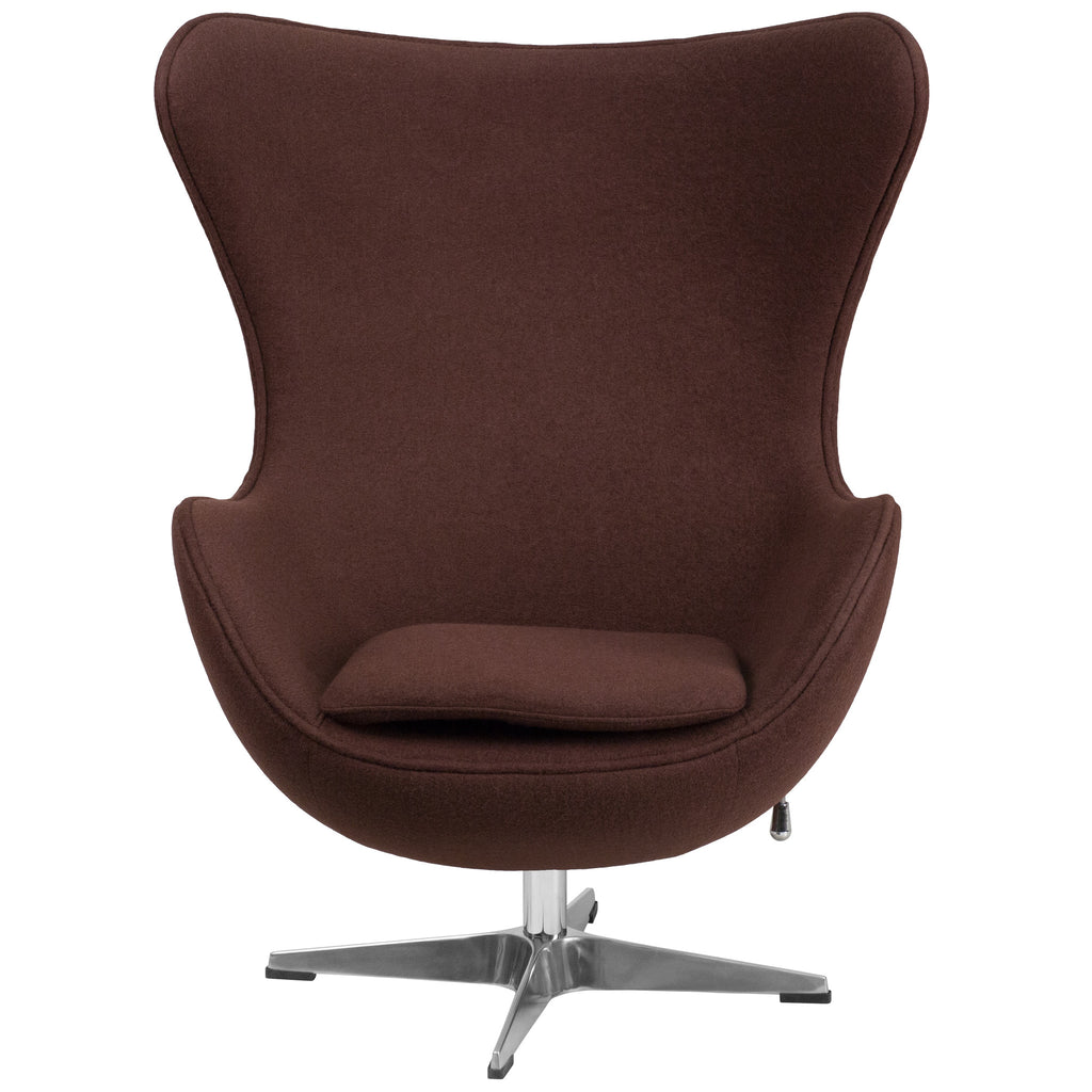 Flash Furniture Brown Wool Fabric Console Gaming Chair Gamers Seat