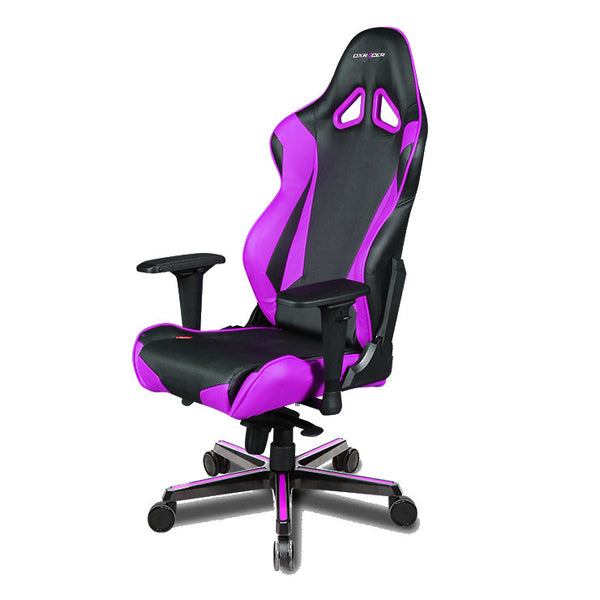 Computer chair back support - Purple Black Dxracer Pc Gaming Chair Oh Rv001 Nv Gamers Seat