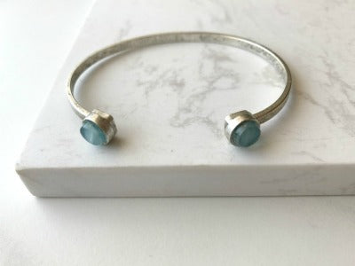 Carmen Cuff Bracelet- Light Blue