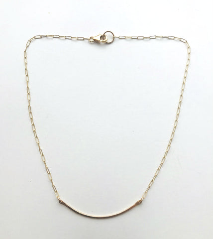 Bar Necklace- gold filled & sterling silver options