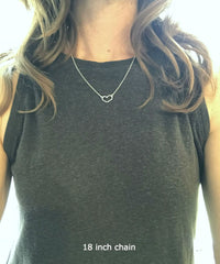 Hammered Heart Necklace- sterling silver & gold filled
