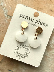 Jackie Earrings - Swirly White