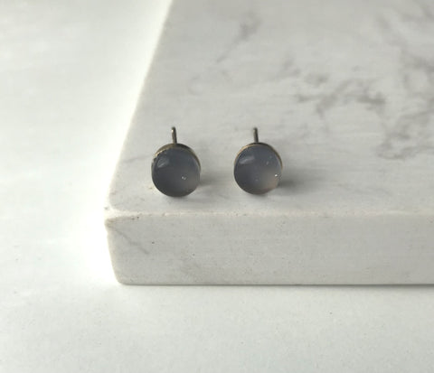 Maria Stud Earrings- Grey
