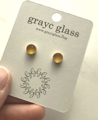 Maria Stud Earrings- Mustard