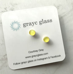 Maria Stud Earrings- Yellow