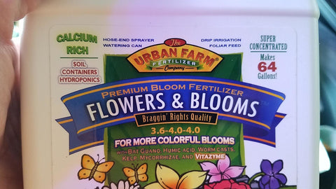 Urban Farms Flowers and Blooms fertilizer.