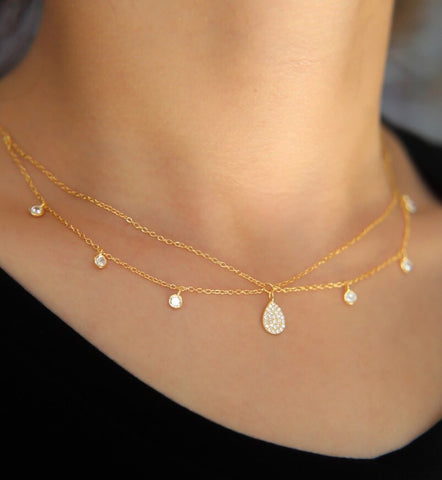 Aeria Layered Diamond Choker