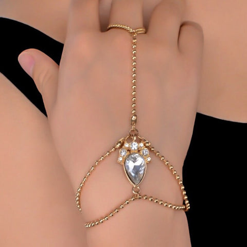 Kateri Gold Hand Harness