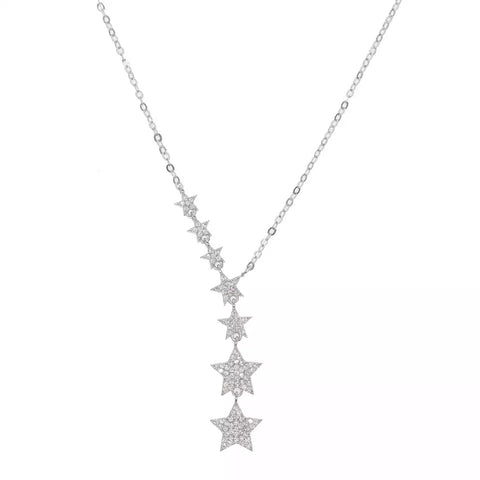 Theta Star Lariat Necklace