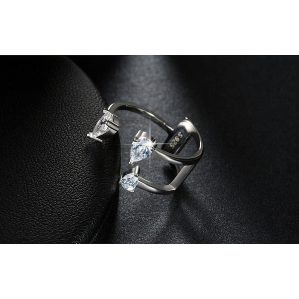 CZ Open Cuff Ring | Body Kandy Couture