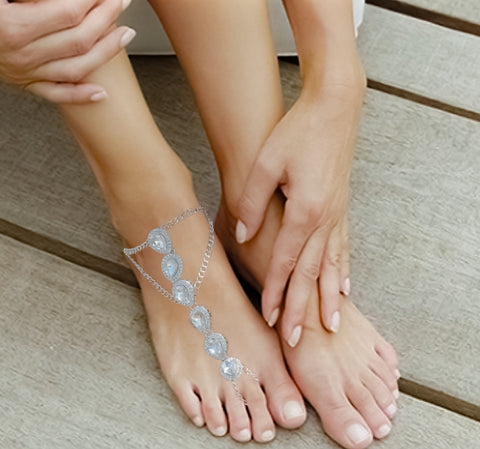 Calliope Barefoot Sandals - Silver