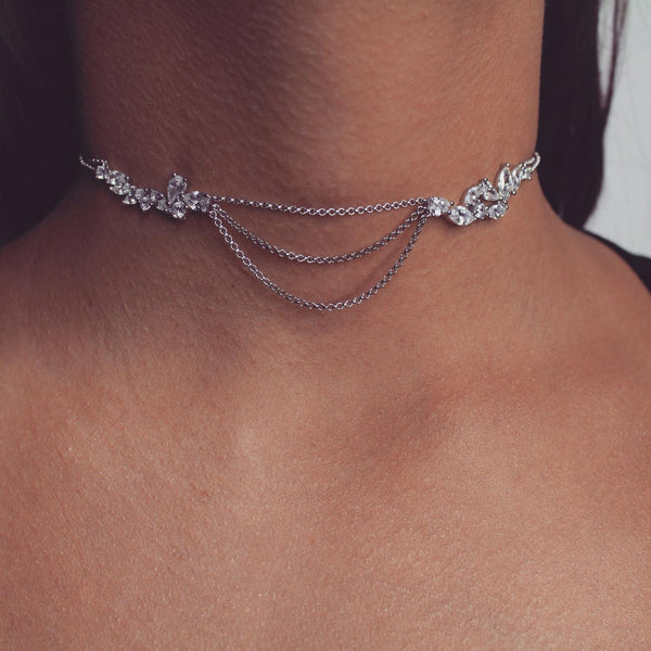 Layla Diamond Choker-Necklaces-Body Kandy Couture