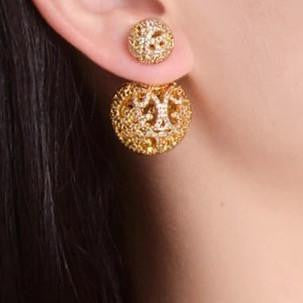 Liliana Gold Filigree Double Ball Studs | Body Kandy Couture