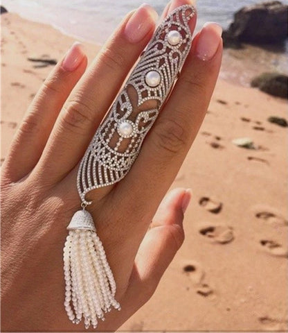 Filigree Full Finger Ring