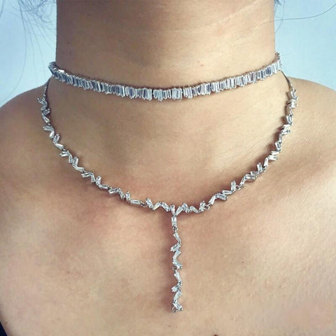 Jessa Diamond Lariat Layering Choker | Body Kandy Couture