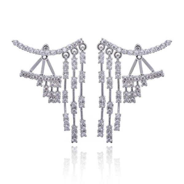 Dangling Diamante Ear Jackets | Body Kandy Couture