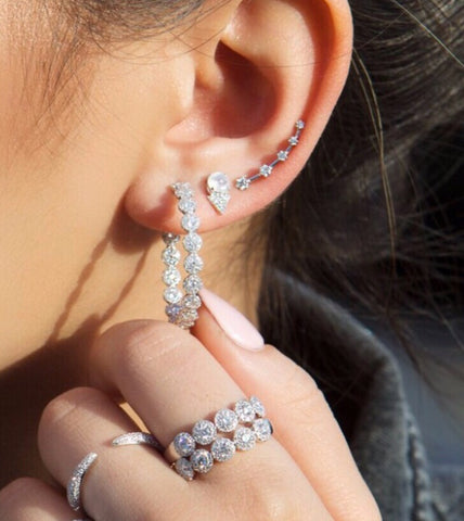 Gabbi Diamond Hoop Earrings