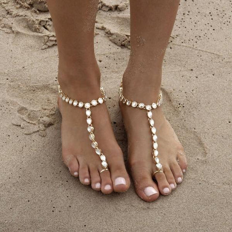 Barefoot Sandals - Parisa Barefoot Sandals - Gold