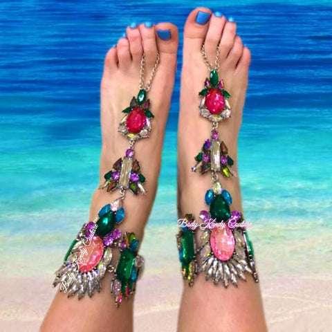 Barefoot Sandals - Starla Crystal Barefoot Sandals