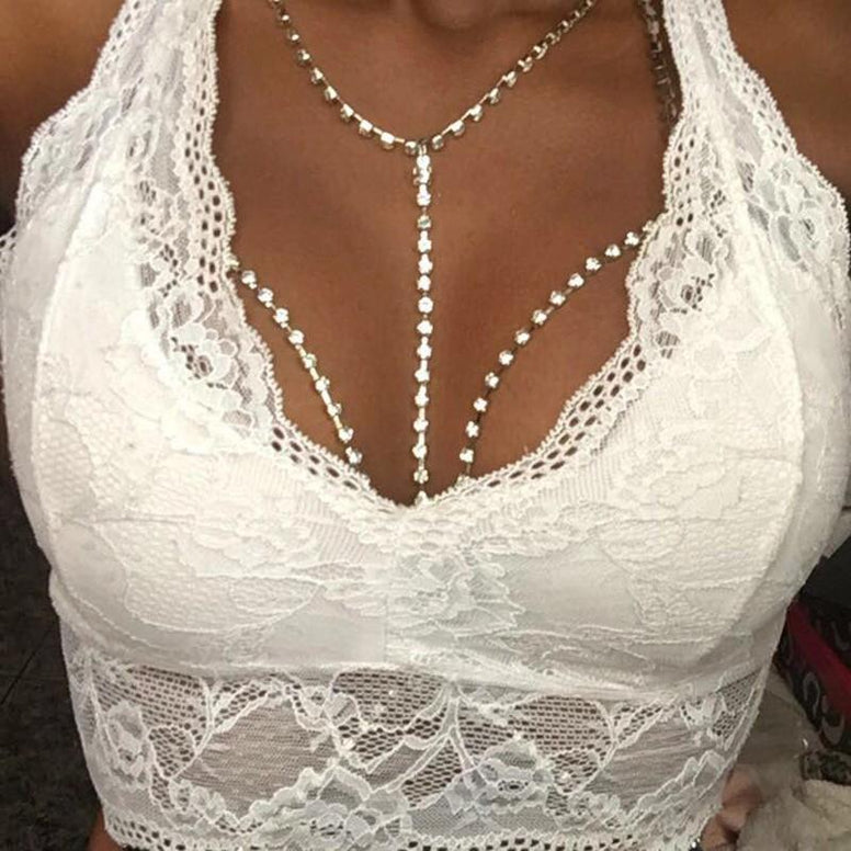Body Jewelry - Slay Rhinestone Chain Bra