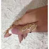 Zula Two Finger Chain Ring-Rings-Body Kandy Couture
